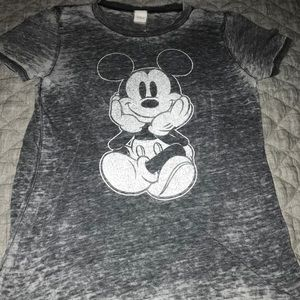 Disney burnout Mickey Mouse tee